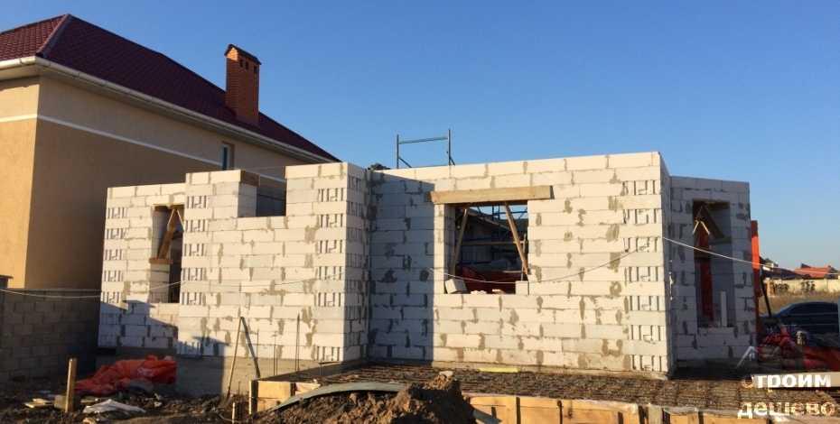 строительство дома из газобетона под ключ