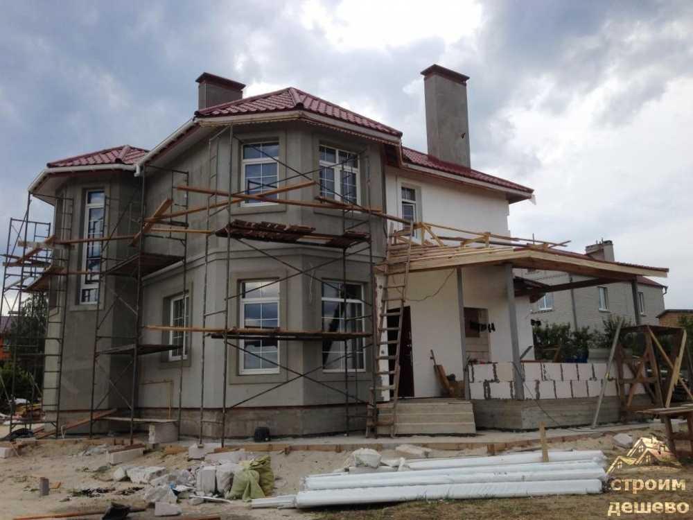 строительство дома из газабетона с нуля