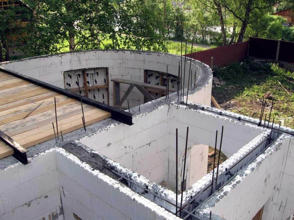 строительство дома несъемная опалубка