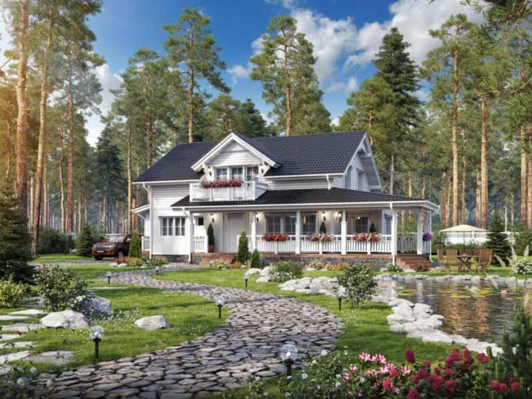 house 768x576 - Домик в ромашках